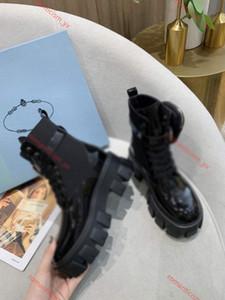 Prada boots 2020 nuevos hombres y mujeres la plataforma del cuero genuino últimos zapatos casuales Bolsa Botas Top pulso triple Martin botas de tamaño 35-40