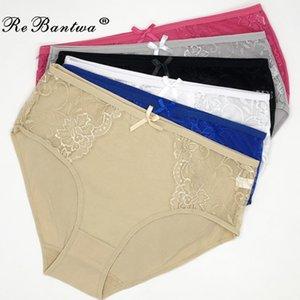Rebantwa 10 unids madre ropa interior más tamaño 2xl 3xl 4xl hight cintura braga bragas mujeres correos de encaje sexy lencería bragas al por mayor 20112