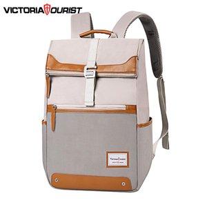 espacio multi-capa Victoriatourist Mochila moda mujer versátil para viajes de placer la escuela de trabajo portátil 15,6 Q1113 adecuada