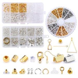 Schmuckherstellung Kit Offene Jump Ringe Hummer Clasips Ohrring Haken Crimp Perlen für DIY Schmuckherstellung Moderne Legierung Acc Jllmuu