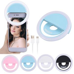 Carregar flash LED beleza preenchimento lâmpada selfie exterior anel selfie recarregável luz para todos telemóvel grátis