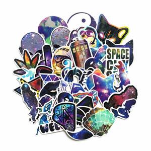 42pcs Historieta Anime Stickers Galaxy Starry Sky Pegatinas Paquete Niños Juguetes Scrapbook Libro Laptop Impermeable Etiqueta Divertido Pegatina Clásico Juguete BBYOKX