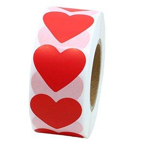 Customized elaborazione 1000 rotoli di San Valentino argento fatti a mano rosa colore rosso a forma di cuore adesivi viola