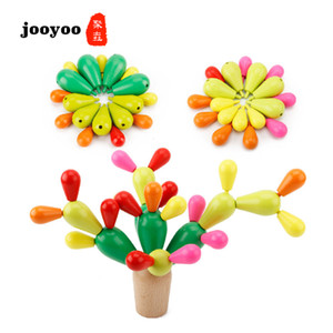 Baby Stacking Nesting Toy Educational Birth Gift Baby Gym Color Wood Kids Toy Stacking Toy Wood Natural LJ201124