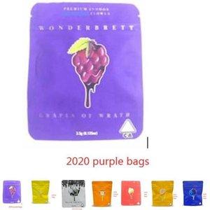Wonderbrett morango Bliss 10x12.4cm Sacos de Mylar local medicado Edibles Cheiro Bags prova wmtdKn bdesybag