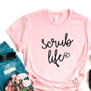 Scrub Life nurse heartbeat Print Women tshirt Cotton Casual Funny t shirt Gift Lady Yong Girl Top Tee 6 Color