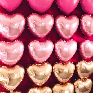 18 Inch coração do amor 50pcs Foil Balloon / Lot Decoração Balões Decoração do casamento dadas forma coração do partido de aniversário das crianças Balão Balões KKF2054