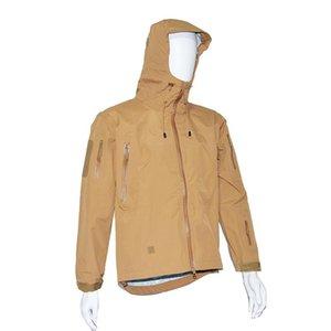 야외 전술 하드 쉘 안티 뿌리 Stormsuit 가을 겨울 바람막이 재킷 필드 코트 PCU