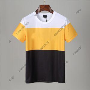 2021 جديد الصيف مصمم رجل الزى عيون هندسية إلكتروني خليط اللون طباعة عارضة t-shirt شارة المرأة الفاخرة تي شيرت اللباس تي بلايز