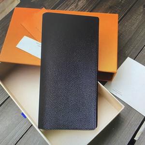 M66540 Brazza Brieftasche Männer Lange Brieftasche Leder Leinwand Kreditkarteninhaber Frauen Geldbörsen Weibliche Mode Lässige Mann Kupplung Tasche PUR