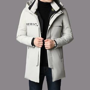 B19023 Qiantang 2020-1 Veste d'hiver Homme haut de gamme 90 Blanc Duck Down p320