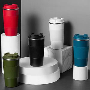 380ml taşınabilir 304 paslanmaz çelik kahve kupa bardak kaymaz durumda seyahat termos kupa en iyi hediye vakum fincan lla55