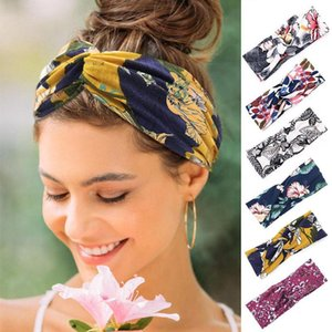 Flower Printing Hair Band Temperament Printed Knotted Headband Womens Wide-Brimmed Face Wash Hair Accessories