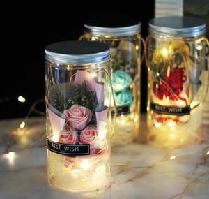 Soap Rose Led Soap Flower Plastic Bottles Wedding Artificial Flower Valentines Day Mothers Day jllBWY bdebag