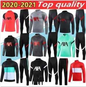 2020  liverpool Survêtement Suit Soccer Adult+kids training clothes Training  mis 20 21 de costume formation MAILLOT pieds kit uniforme