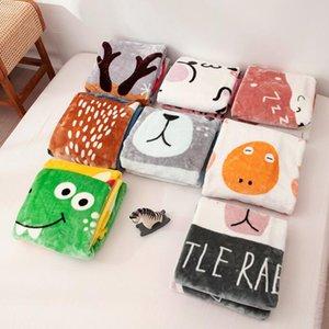 Couverture pour bébé Nap Couvertures enfants Cartoon Fluffy Throw Blanket peau douce de bébé Cartoon Couvertures bienvenus Home Textiles 100 * 140cm FWB2641