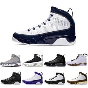 Chaussures de basket-ball de basse-ball de chaude UNC 9 Gym Rouge Bred JBC Citrus L'Esprit 9s Réfléchissant Haute coupe Hommes Baskets Sports sportifs en plein air 40-47