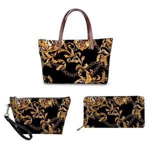 European Pattern Printing Handbag&Wallet& storage bag Women Handbag set Lady Shoulder Tote Bags for Females Top-Handle Bag Girl