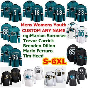 S-6XL All Star San Jose Sharks Hockey Jersye 44 Marc-Edouard Vlasic 31 Martin Jones 51 Radim Simek Kevin Labanc Gustav Nyquist Custom Stitch