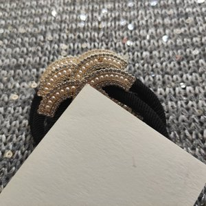 New fashion matel c hair Hair Accessories fashion tie with pearl rhinestone party souvenirs With VIP Paper card and dust bag