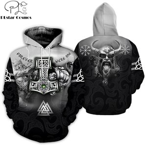 PLstar Cosmos New Fashion Men hoodies 3D All Over Printed Tattoo Viking Odin Hoodie Apparel Unisex Casual Hoody streetwear 201019