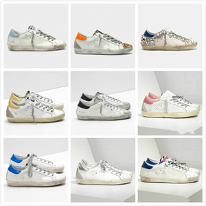 Canestri Golden Super Star Sneakers Sequin Classic Bianco Do-Old Scarpe sporche Designer Designer Scarpe Casual Scarpe Casual Man Fashion Trainer Migliore qualità