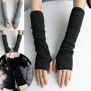 Зима Женщины перчатки без пальцев Femme Вязаные митенки перчатки Новая мода Теплый Длинные Sexy взрослых Колено Solid GAOKE