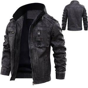 Homem de couro Casacos Jacket Men Masculino Coats Inverno Quente fresco Dropshipping tamanho Moto Motorcycle Outerwears Europeia