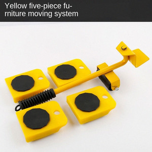 Bed Artifact Weight Carrier Tool Base Move Furniture Mobile Multi-Function Home Carbon Steel Five Pieces Set Metalworking Boxed I2sH#