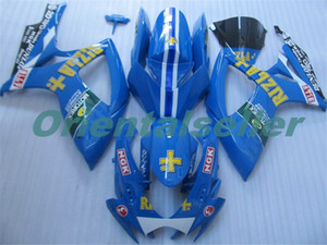 Body For SUZUKI GSX R600 GSX-R750 GSXR-600 GSXR600 06-07 GSX R750 GSXR 600 750 K6 GSXR750 2006 2007 Fairing kit New Factory blue white AD75
