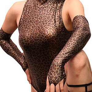 Sexy Women Fingerless Gloves Faux Leather Punk Long Gloves Hip- Jazz Punk Outfit Mittens Culb Wear Eroticas Lingerie