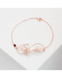 Duoying اسم سوار لذيذ الأحرف الأولى سوار شخصية مجوهرات مخصص الأطفال اسم أساور لأمي العروسة هدايا 1