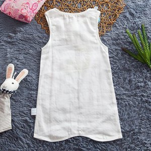 Baby Pajamas Baby Cotton Gauze Clothes One-Piece Vest Nightgown Summer Thin Men and Women Infant Children Nightdress