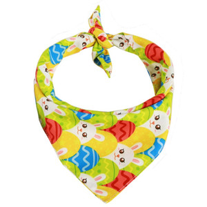New product Easter pet dress up Rabbit egg scarf saliva towel Easter holiday supplies for cats and dogs
