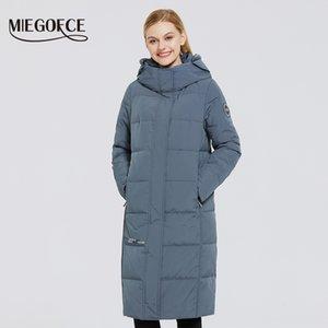 Miegofce 2020 Neue Frauen lange Baumwollmäntel mit Miegofce Design Winter Wasserdichte Parkas Winddichte Kleidung Frauenjacke LJ200929