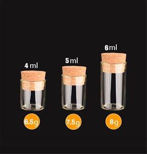New Small Test Tube With Cork Stopper 4mL 5mL 6mL Glass Spice Bottle DIY Craft Transparent Glass Bottle Drifting Bottle T9I001124