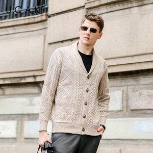 UCAK Marka Casual Sweatercoat Erkekler Giyim Sonbahar Kış Yeni Geliş Streetwear Katı Renk Hırkalar Giyim Çekme Homme U1211 Q1113
