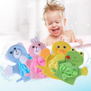 Venta caliente 200pcs Niños bebé ducha de baño toalla de baño 5Colors Animales estilo de la ducha de tela lavada Toallas ZZC2421 linda