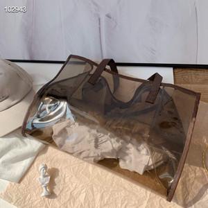 Les derniers sacs Jelly 2020 sont conçus par le concepteur. Sac de voyage portable coloré de femme, sac de plage d'une épaule, ensemble de deux pièces