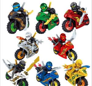 Kids Ninja montado montado blocos de série de quebra-cabeça estilo puzzle estilo phantom crianças ninja 8 construindo brinquedos blocos minifigures wmtjw