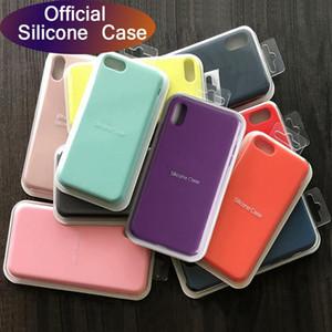 Caso de silicone líquido original para iphone 7 8 6s mais 11 pro max x xs xs max case de telefone à prova de choque