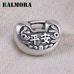 BALMORA Original 100% 990 Pure Silver Ingot Pendant For Children Baby Women Safe & Lucky Pendant With Chain Thai Silver Jewelry 201013