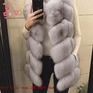 LEDEDAZ Fashion Long Ladies Imported Faux Fox Fur Vest Plus Size Women Faux Fur Coat Warm Winter Fake Fur Jacket Coat S-5XL 200930
