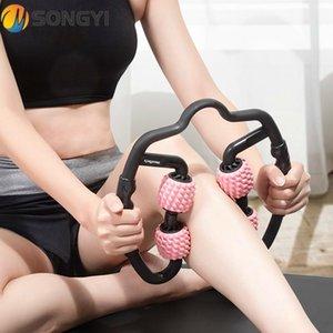 Songyi Taşınabilir Masaj Kas Ince Artifakt Rulo Ince Buzağı Halka Kelepçe Rulo Sopa Kol Bacak Boyun Yoga Fitness Ekipmanları I32