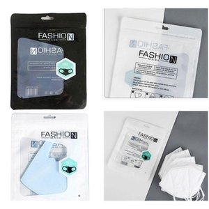 Transparente schwarze weiße staubdichte Verpackungstasche für Kind Gesichtsmaske Mode Pacakging-Taschen 15 * 19cm Op Jllzig Eatout
