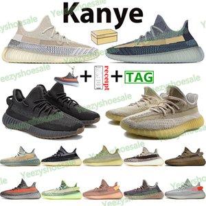 Kanye zapatos corrientes de Asriel Israfil Zyon Ropa para hombre de las zapatillas de deporte Deportes Cinder Marsh Lino Tierra Yeshaya Yecheil Negro estático reflectantes Zapatos