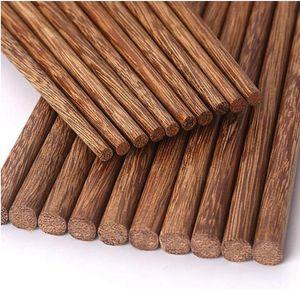 Palillos de madera naturales sin laca. Vajilla de cera China estilo clásico palillos de madera Sushi cubiertos vajilla HWC3138