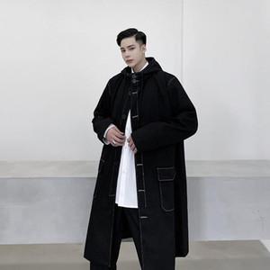 Casacos de Trench dos homens 2021 Outono Windbreaker homens manga comprida homens macho magro fit inverno casaco 8 # 21 / 10d50
