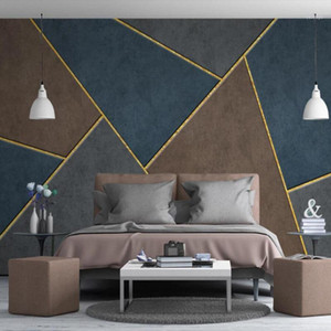 Dropship personalizado 3d papel de parede personalidade abstrata abstrata luz geométrica fundo parede decoração papel de parede mural1