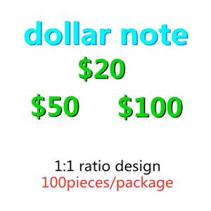 Más realista USD Fake Prop Dinero Dollares Billetes Billetes de Niños Juguetes para niños Props Specal Fake Money USA Película Dinero-Q